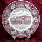 Mulberry Transferware Plate Pioneer Museum Blue Licks Ky Adams Jonroth