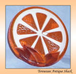 Wondermold 1969 Resin Orange Slice Trivet Vtg