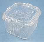 Federal Glass - Vegetable Top Design - Crystal Refrigerator Dish