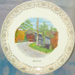 Indiana Covered Bridge Souvenir Plate