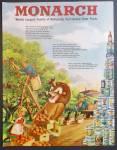 Monarch Food Distributors Ad - 1948