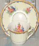 Alfred Meakin Hollyhock Demi Cup And Saucer