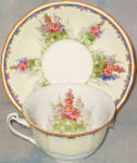 Alfred Meakin Hollyhock Cup And Saucer