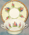 Alfred Meakin Hollyhock Cream Soup And Saucer