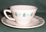 Metlox Poppytrail Navajo Cup And Saucer