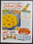Libby's Sliced Pineapple & Other Fruit Ad - 1939