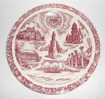 Vernon Kilns Pottery University Of Washington Plate