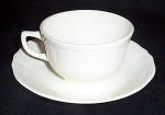 Mt. Clemens Petalware White Cup And Saucer