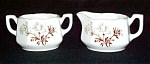 Mount Clemens Floral Demitasse Sugar And Creamer