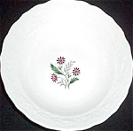 Mt. Clemens Red Floral Serving Bowl
