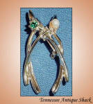 Vintage Double Wishbone Brooch Pin
