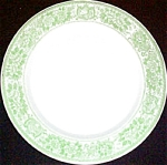 Mcnicol Green Floral Dinner Plate