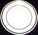 Pope Gosser Coin Gold Dinner Plate