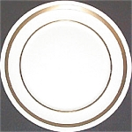Pope Gosser Coin Gold Salad Plate
