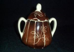 Purinton Intaglio Sugar Bowl