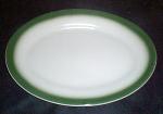 Wellsville Green Rim Platter