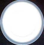 Wellsville Blue / Gray Rim Dinner Plate