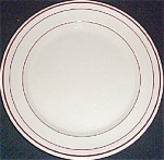 Carr Tan Dessert Plate With Red Trim