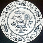 Royal Blue Onion Dinner Plate