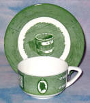 Royal Colonial Homestead Green Cup And Saucer