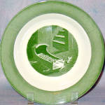 Royal Colonial Homestead Green Soup Bowl