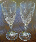 Pair Of Lead Crystal Champagne Glass's