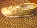 Vintage New Nos Shoes Easy Style Gold And White Size 7