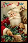 1909 Fur Coat Santa Claus With Switch Postcard