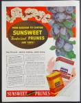 Sunsweet Prunes Ad