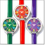 Colorful Strap Watch With Round Face