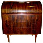 Mid-century Modern Rosewood Cylinder Desk By A. Belokop