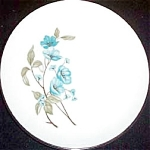 Sabin Blue Floral Bread Plate
