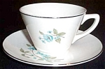 Sabin Blue Floral Cup And Saucer