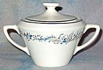 Sabin Blue Floral Sugar Bowl