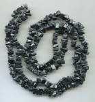 Black Stones Long Rope Necklace