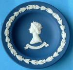 Wedgwood Jasper Dish Queen Elizabeth Ii Plate England Silver Jubilee