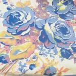 Gorgeous Vintage Blue Floral Tablecloth