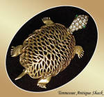Turtle Figural Brooch Pin