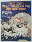 Sheet Music For 1933 Who's Afraid Of The Big Bad Wolf