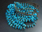 Native American Sleeping Beauty Turquoise 5 Strands