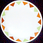 Shenango Form Triangles Bread Plate