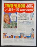 Crisco Contest Ad - Two $5000 Cash Prizes 200 $50 Cash Prizes