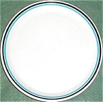 Shenango Form Blue Black Trim Salad Plate