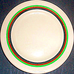 Shenango Inca Ware Striped Bread Plate