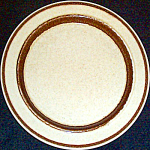 Shenango Tan / Brown Trim Bread Plate