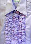 Men's Lavender Ruffled Vintage Tuxedo Shirt Large Wedding
