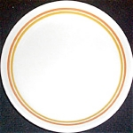 Shenango Orange Gold Band Salad Plate