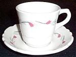 Shenango Pink Tulip Cup And Saucer