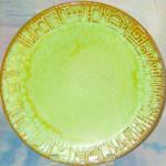 Frankoma Mayan - Aztec Prairie Green Dinner Plate