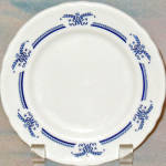 Shenango Blue Bows Swags Bread Plate